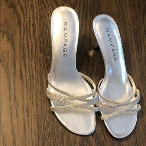 Rampage Shoes - Rampage silver heeled sandals